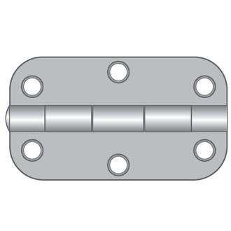 Stainless Steel Hinges - Large radius