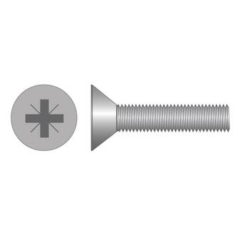 Machine Screws CSK Pozi Zinc