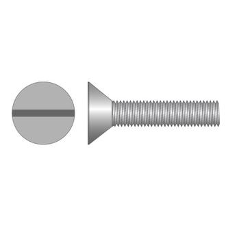 Machine Screws CSK Slot Imperial Zinc