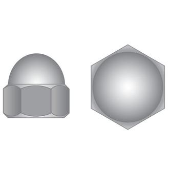 Brass Nickle Plate Dome Nuts