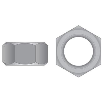 Hex Full Nuts Zinc