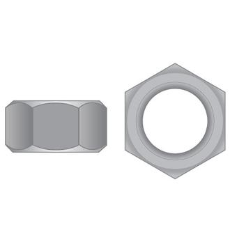 Hex Full Nuts T304 SS Metric