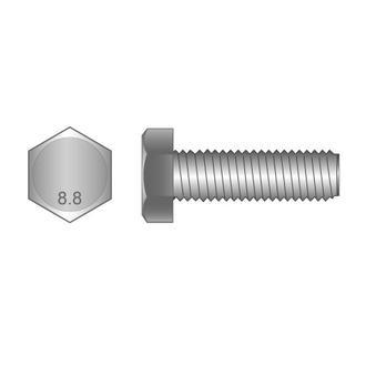 Set Screws Class 8.8 Zinc