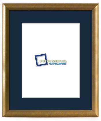 """10""""x13"""" Gold Frame Blue Mat 802gbr837"""