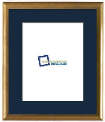 """11""""x14"""" Gold Frame Blue Mat 802gbr837"""