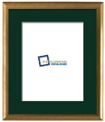 """11""""x14"""" Gold Frame Green Mat 802gbr264"""