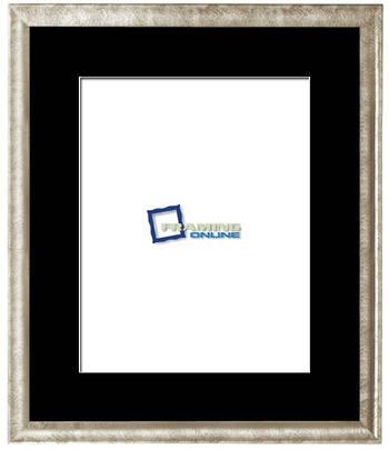 "11""x14"" Silver Frame Black Mat 802sbr210"