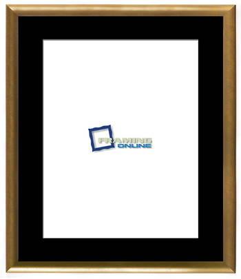 "16""x20"" Gold Frame Black Mat  802gbr210"