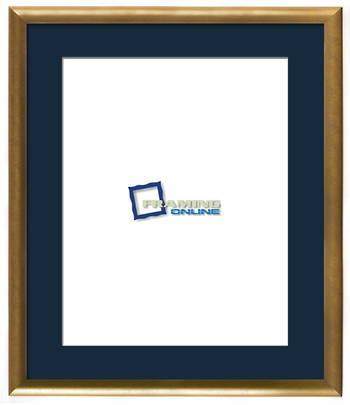 """16""""x20"""" Gold Frame Blue Mat 802gbr837"""