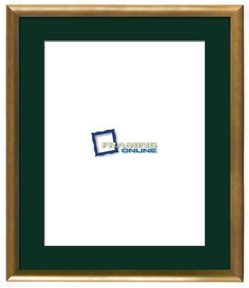 """16""""x20"""" Gold Frame Green Mat 802gbr264"""