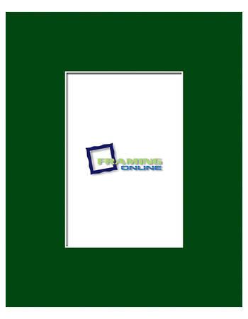 4x6 in 8x10 Green Mat