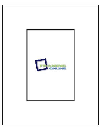 4x6 in 8x10 White/Black Core Mat