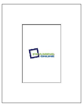 4x6 in 8x10 White Mat
