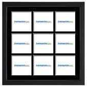 100x100mm 9-Window Black Frame Black Mat 52sb