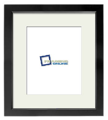 "8""x10"" Black Frame Cream Mat 699sb204"