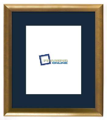 """8""""x10"""" Gold Frame Blue Mat 802gbr837"""