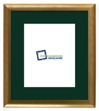 """8""""x10"""" Gold Frame Green Mat 802gbr264"""