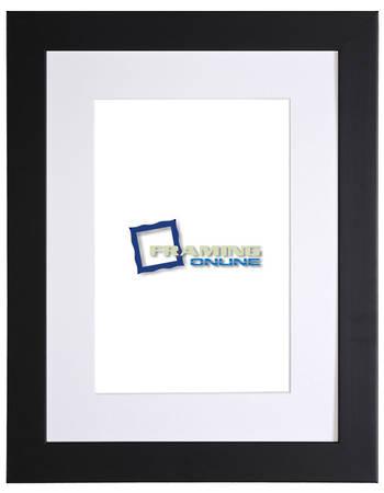 """12""""x16"""" Black Frame White Mat 405"""