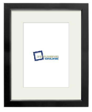 "8""x12"" Black Frame Cream Mat 699sb204"
