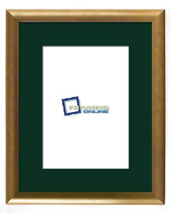 """8""""x12"""" Gold Frame Green Mat 802gbr264"""