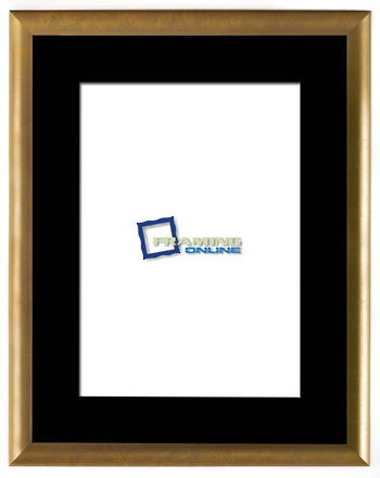 "12""x18"" Gold Frame Black Mat 802gbr"