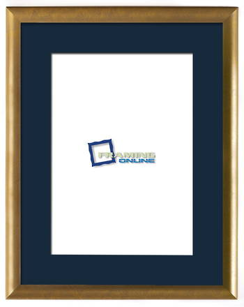 """12""""x18"""" Gold Frame Blue Mat 802gbr"""