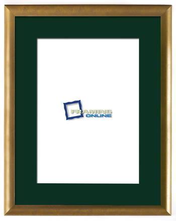 """12""""x16"""" Gold Frame Green Mat 802gbr"""