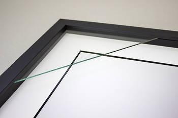 "12""x16"" Black Box Frame White/Black Core Mat 52"