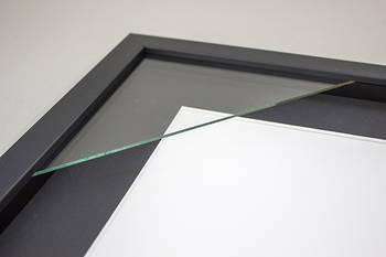 4x6 3-Window Black Box Frame Black Mat 52sb