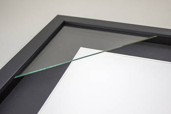 100x100mm 3-Window Black Box Frame Black Mat 52sb