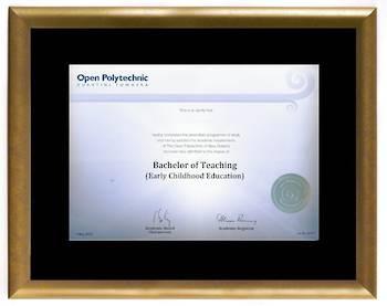 Open Polytechnic Degree Gold Frame 210