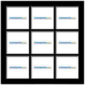 200x200mm 9-Window Black Mat