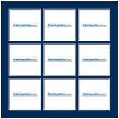 200x200mm 9-Window Dark Blue Mat