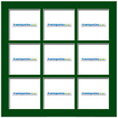 200x200mm 9-Window Green Mat