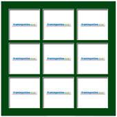 100x100mm 9-Window Green Mat