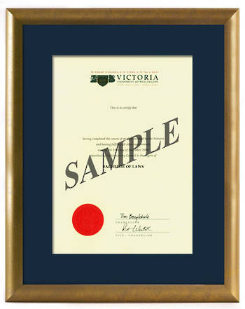 Victoria Degree Gold Frame 837