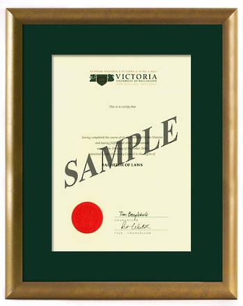 Victoria Degree Gold Frame 264