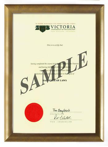 Victoria Degree Gold Frame 802 CONSERVATION