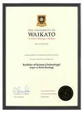 Waikato Degree 1031p CONSERVATION