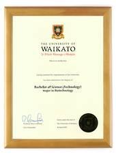 Waikato Degree 28hon CONSERVATION