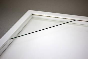 """8""""x8"""" Square White Box Frame 52"""