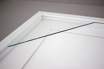 100x100mm 4-Window White Box Frame White Mat 52sw