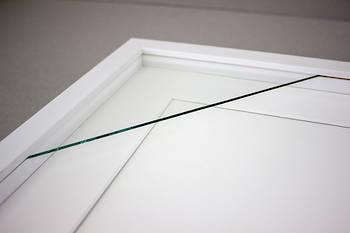 200x200mm 2-Window White Box Frame White Mat 52sw
