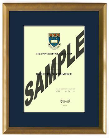 Auckland University Degree Gold Frame 837