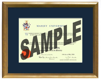 Massey University Degree Gold Frame 837