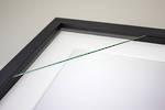 100x100mm 3-Window Black Box Frame White Mat 52sb