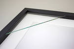 200x200mm 2-Window Black Box Frame White Mat 52sb