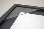 5x7 3-Window Black Box Frame Black Mat 52sb