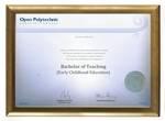 Open Polytechnic Degree Gold Frame 802 CONSERVATION