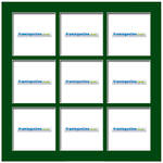 100x100mm 9-Window Green Mat